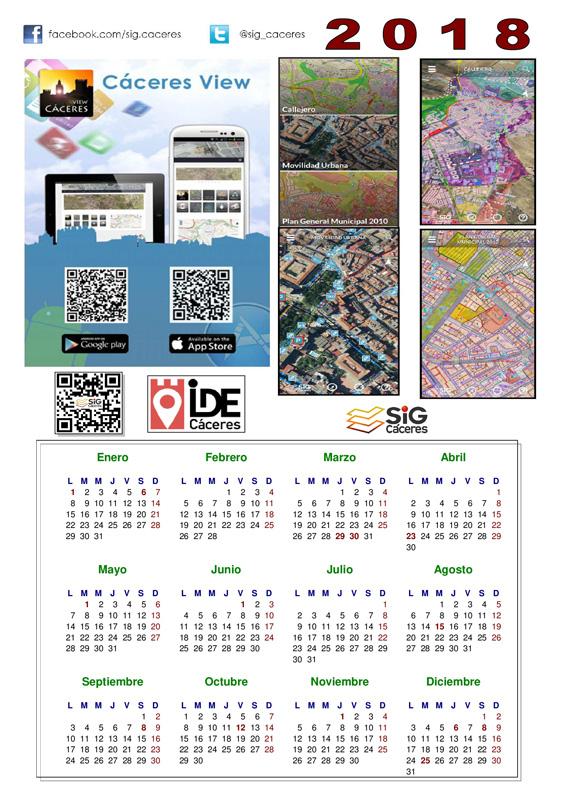 Calendario Del 2000.Calendarios Del Sig Caceres Gis