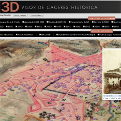 visor Cáceres historica 3D