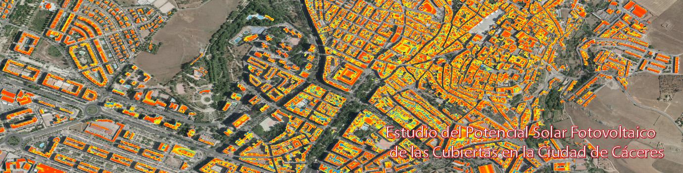 Estudio del Potencial Solar Fotovoltaico de las Cubiertas en la Ciudad de Cáceres